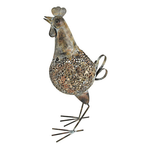 True Brands 2316 Rooster Cork Holder - Holds 120 Corks, Distressed Metal Finish