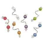 True Brands 2331 Wine Glass Charms - Wire w/ Bead Accents