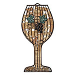 True Brands 2423 Wine Glass Cork Holder - Holds 45 Corks, Wrought Iron