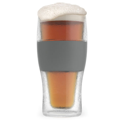 True Brands 2969 16-oz Cooling Pint Glass w/ Rubber Grip, Plastic