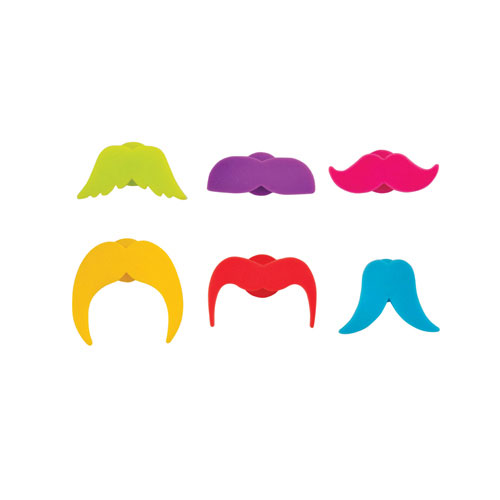 True Brands 3128 Mustache Drink Markers, Silicone