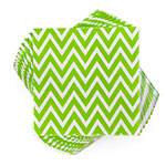 "True Brands 3210 Cocktail Napkins - Evergreen Chevron Pattern, 5"" x 5"", 3-ply"