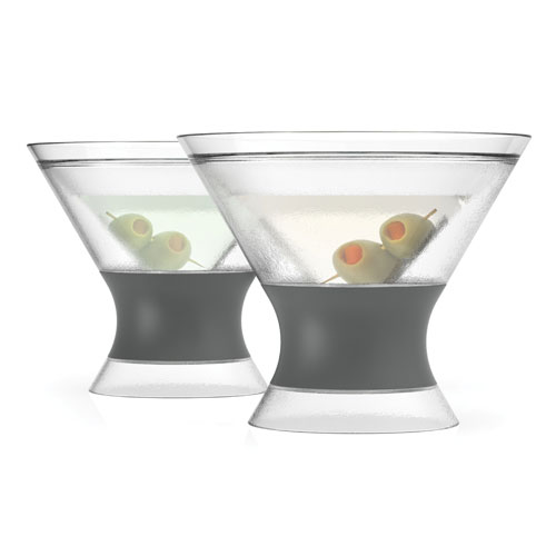 True Brands 3310 9-oz Cooling Martini Glass w/ Rubber Grip, Plastic