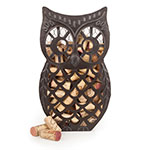 True Brands 3459 Owl Cork Holder - Holds 80 Corks, Distressed Metal Finish