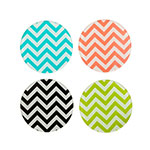 True Brands 3512 Coasters - Chevron Pattern, Glass