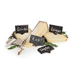 True Brands 3708 Cheese Markers - Slate Stone