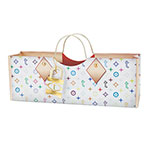 True Brands 4318 Wine Purse w/ Gold Metal Handles, Colorful Truey Pattern, Paper