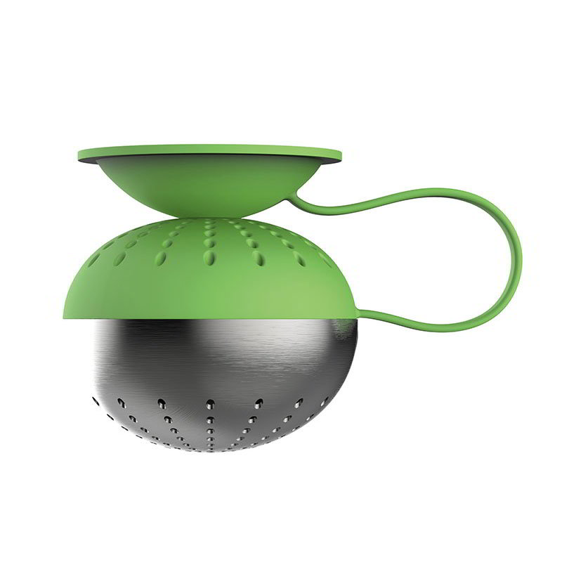 Magisso 70214 Magnetic Tea Ball Infuser, Drip-Free, Silicone, Stainless, Green