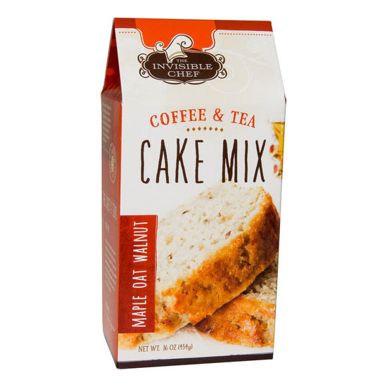 The Invisible Chef 1165 16-oz Coffee & Tea Cake Mix - Maple Oat Walnut