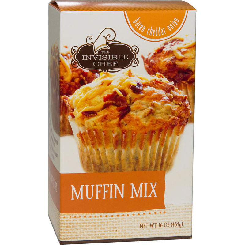 The Invisible Chef 1332 16-oz Muffin Mix - Bacon Cheddar Onion