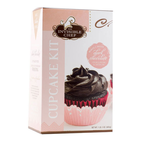 The Invisible Chef 1493 24-oz Cupcake & Frosting Kit - Dark Chocolate