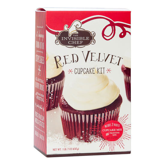 The Invisible Chef 1615 23-oz Cupcake & Frosting Kit - Red Velvet