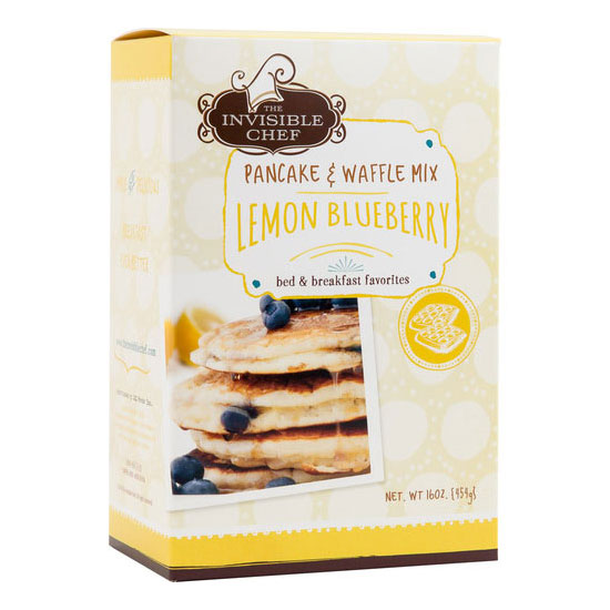 The Invisible Chef 1752 16-oz Pancake & Waffle Mix - Lemon Blueberry