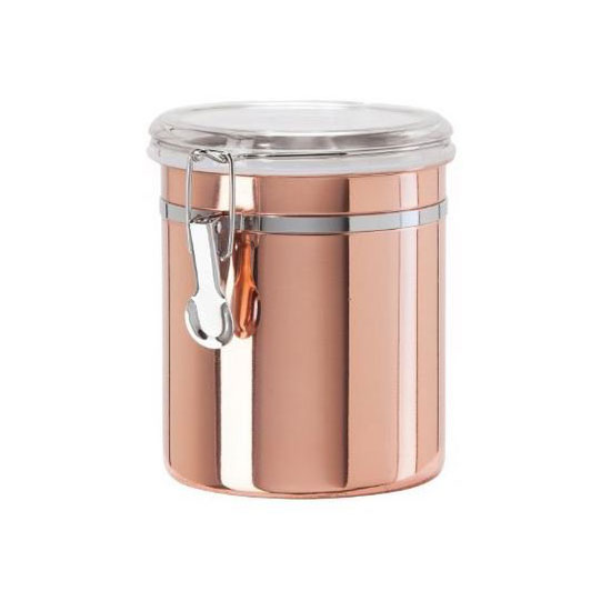 Oggi 5304.12 52-oz Storage Canister w/ Clamp Top Lid, Copper