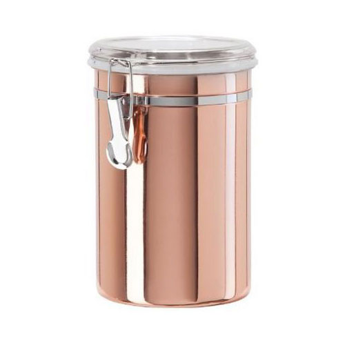 Oggi 5306.12 60-oz Storage Canister w/ Clamp Top Lid, Copper