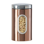 Oggi 5602.12 64-oz Storage Canister w/ Lift-Off Lid, Coppertone Finish