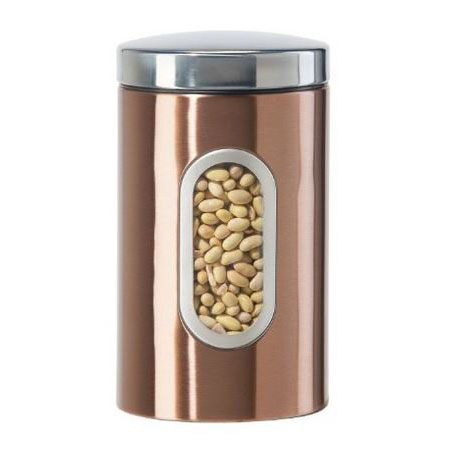 Oggi 5602.12 64-oz Storage Canister w/ Lift-Off Lid, Coppertone Finish