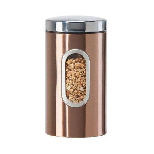 Oggi 5603.12 64-oz Storage Canister w/ Lift-Off Lid, Coppertone Finish