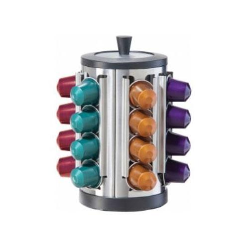 Oggi 6586 Nespresso Capsule Storage Carousel - Holds 24 Capsules, Stainless