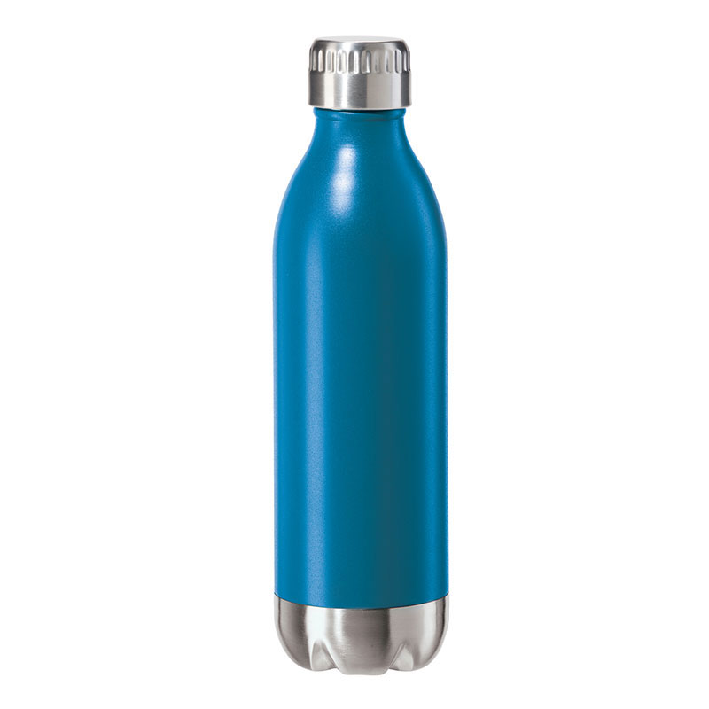 Oggi 8081.5 17-oz Sports Bottle w/ Twist-on Cap, Stainless, Blue