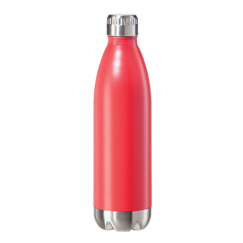 Oggi 8082.2 25-oz Sports Bottle w/ Twist-on Cap, Stainless, Red