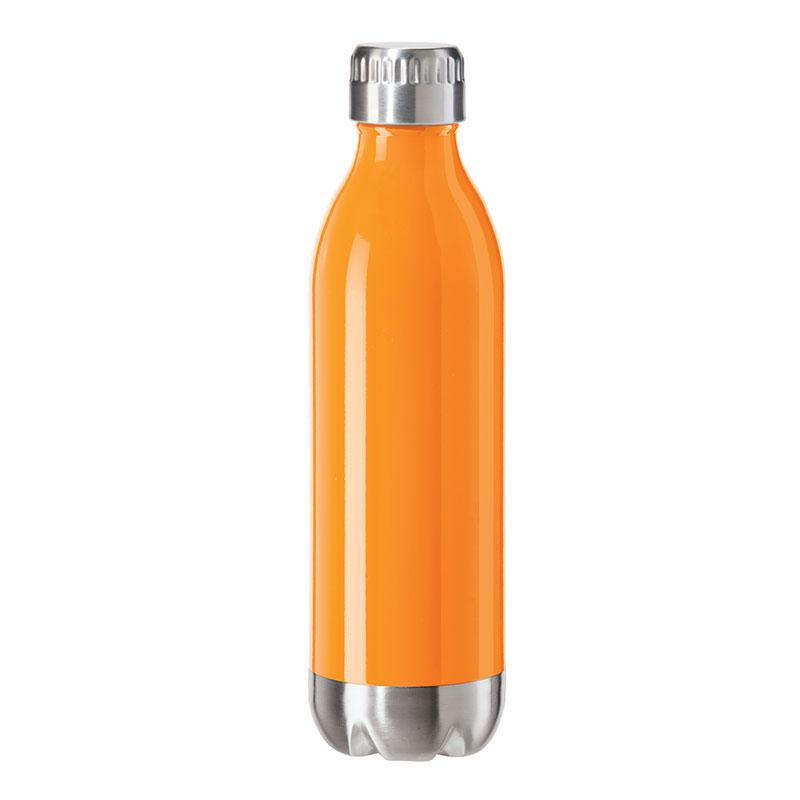Oggi 8083.12 17-oz Sports Bottle w/ Twist-on Cap, Stainless, Orange