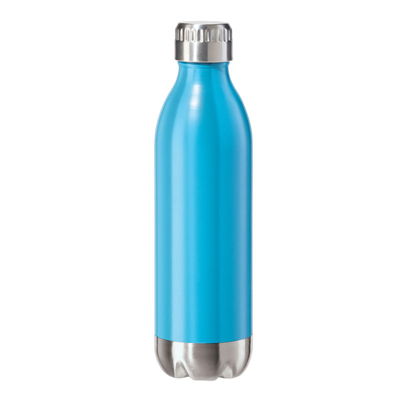 Oggi 8083.5 17-oz Sports Bottle w/ Twist-on Cap, Stainless, Blue