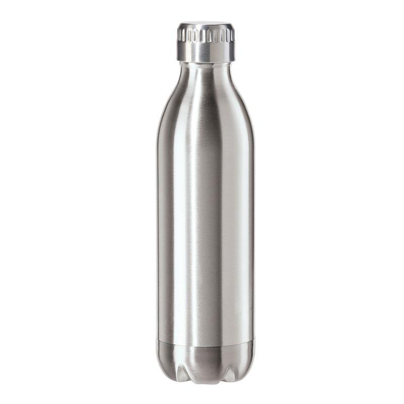 Oggi 8085.0 17-oz Sports Bottle w/ Twist-on Cap, Stainless, Satin