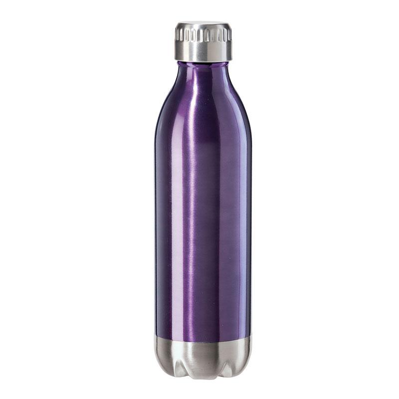 Oggi 8085.8 17-oz Sports Bottle w/ Twist-on Cap, Stainless, Purple