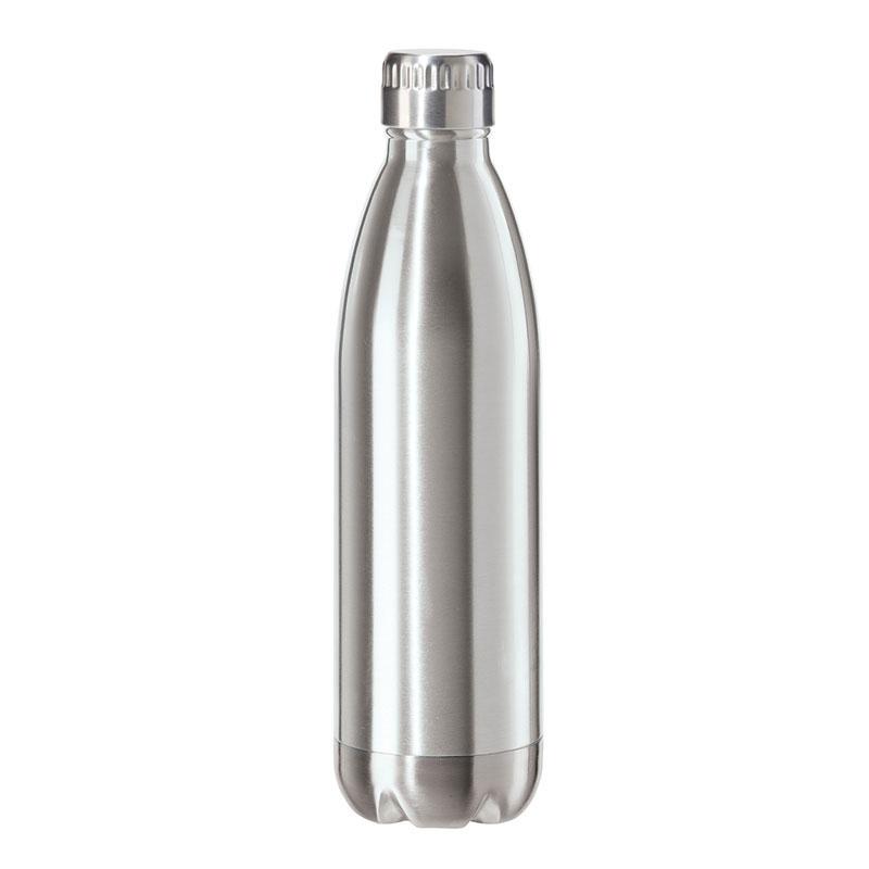 Oggi 8086.0 25-oz Sports Bottle w/ Twist-on Cap, Stainless, Satin