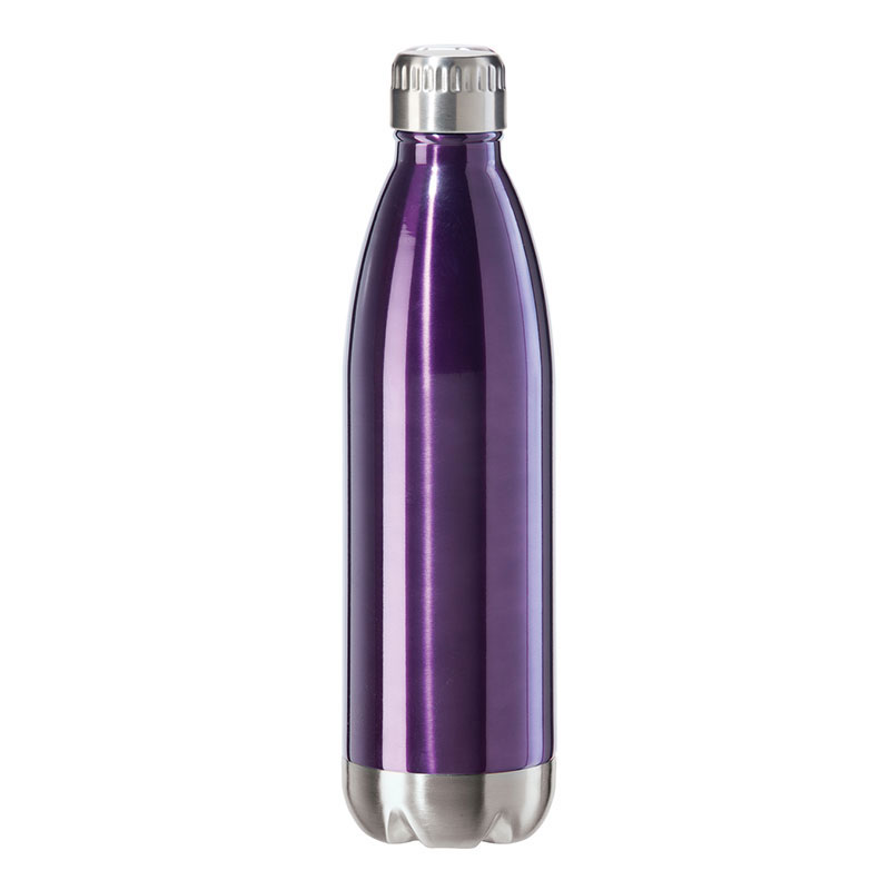 Oggi 8086.8 25-oz Sports Bottle w/ Twist-on Cap, Stainless, Purple