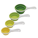 Chef'n 102-250-121 4-Piece SleekStor® Pinch + Pour Collapsible Measuring Cups, Green