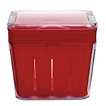 "Chef'n 102-592-005 4.5"" Bramble™ Berry Basket w/ Removable Inner Basket, Red"