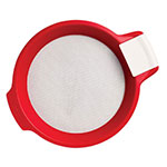 Chef'n 103-550-119 Sift'n Sieve™ Flour Sifter & Sieve w/ Scraper, Red