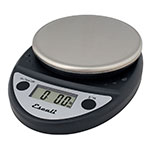 "Escali SCDGP11BK 11-lb Round Digital Scale w/ Removable Platform - 6"" x 8.5"", Charcoal Black"