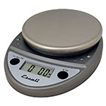 "Escali SCDGP11M 11-lb Round Digital Scale w/ Removable Platform - 6"" x 8.5"", Metallic"