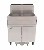 Dean SCFSM250G Gas Fryer - (2) 50-lb Vat, Floor Model, NG