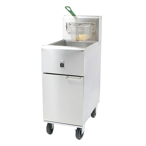 Dean SR14E Electric Fryer - (1) 40-lb. Vat, Floor Model, 208v/1ph