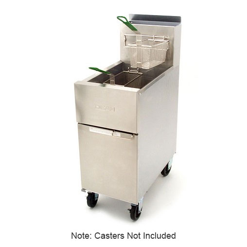 Dean SR42G Gas Fryer - (1) 43-lb Vat, Floor Model, NG
