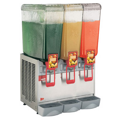 "Crathco 20/3PE 21.25"" Cold Beverage Dispenser w/ (3) 5.4-gal Bowls, 120v"