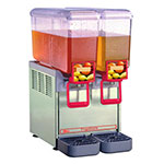 "Crathco 8/2 12"" Compact Cold Beverage Dispenser w/ (2) 2.2-gal Bowls, 120v"