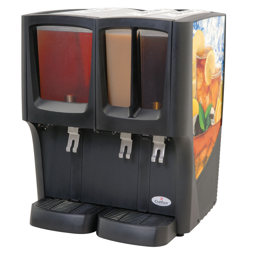 "Crathco C-3D-16 22"" Cold Beverage Dispenser w/ (1) 5-gal & (2) 2.4-gal Bowls, 120v"
