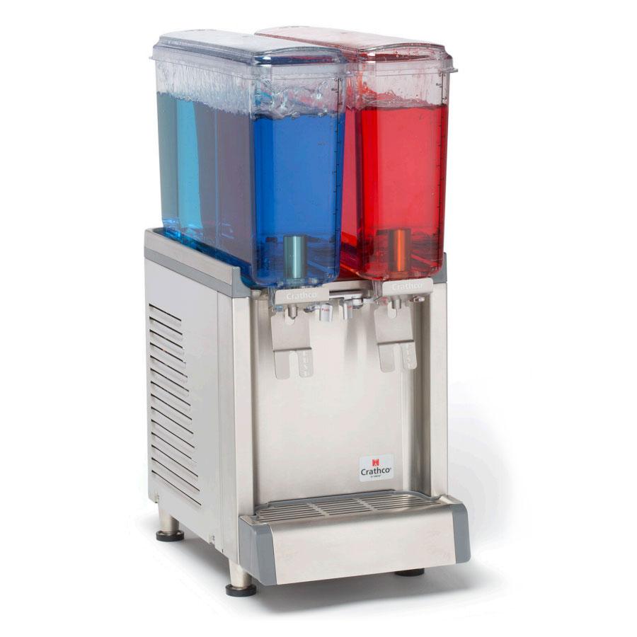 """Crathco CS-2E-16 10.5"""" Cold Beverage Dispenser w/ (2) 2.4-gal Bowls, 115v"""