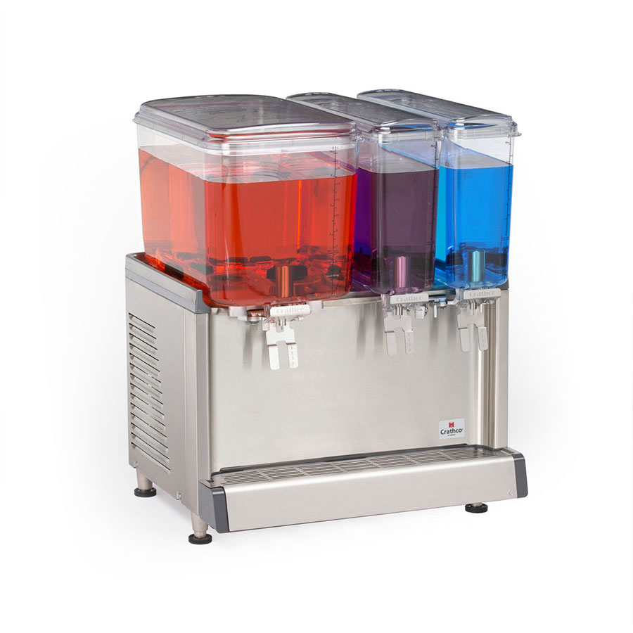 "Crathco CS-3D-16 20.4"" Cold Beverage Dispenser w/ (1) 4.75-gal & (2) 2.4-gal Bowls, 115v"
