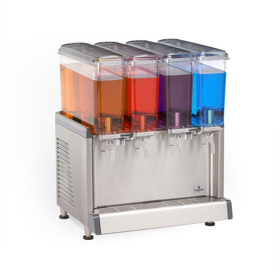 "Crathco CS-4E-16 20.4"" Cold Beverage Dispenser w/ (4) 2.4-gal Bowls, 115v"