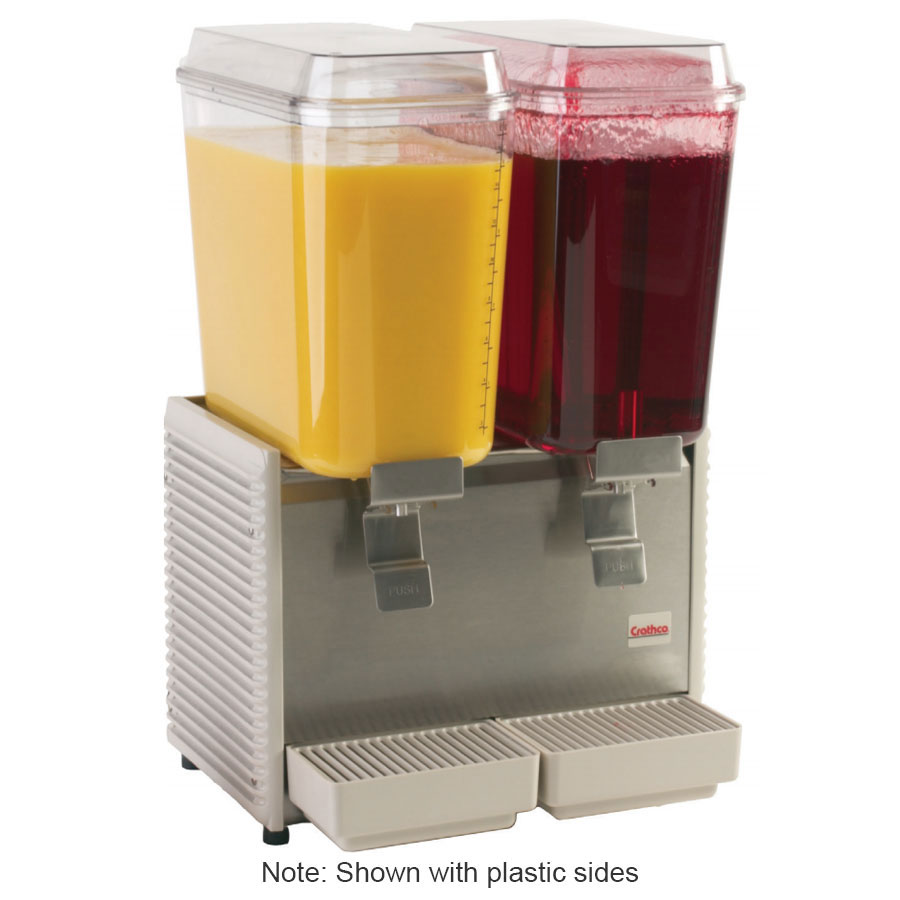 "Crathco D25-3 17.5"" Premix Cold Beverage Dispenser w/ (2) 5-gal Bowls , 120v"