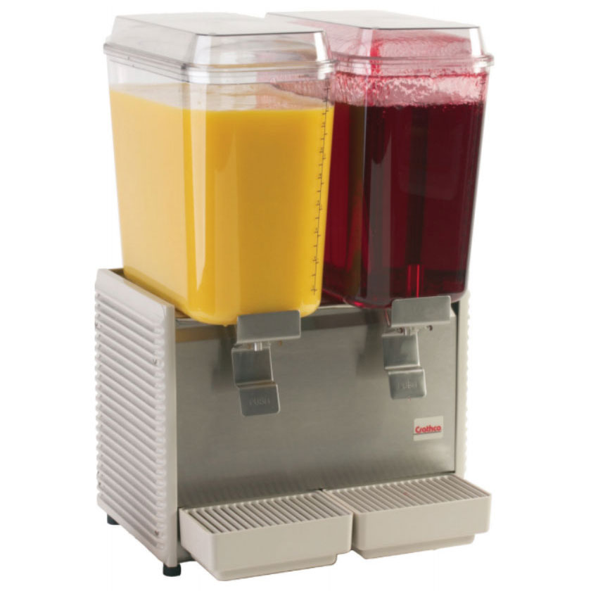 "Crathco D25-4 17.5"" Premix Cold Beverage Dispenser w/ (2) 5-gal Bowls, 120v"