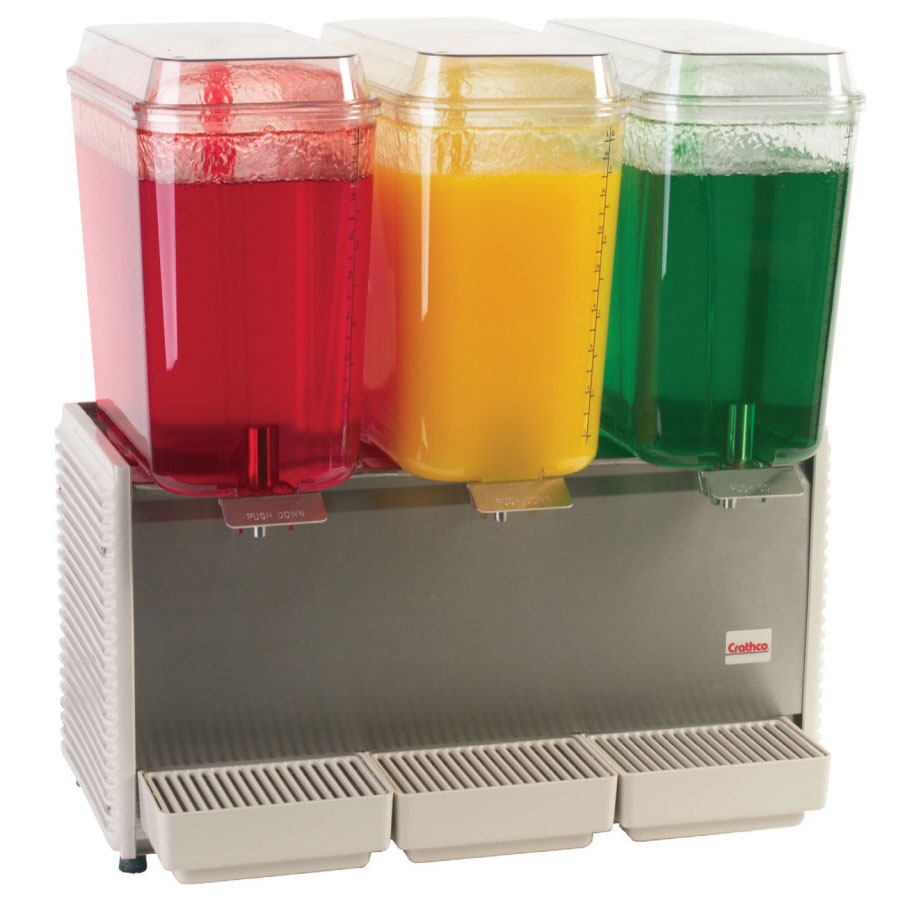 "Crathco D35-4 25.5"" Premix Cold Beverage Dispenser w/ (3) 5-gal Bowls, 120v"