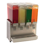 "Crathco E49-4 20.5"" Premix Cold Beverage Dispenser w/ (4) 2.4-gal Bowls, 120v"