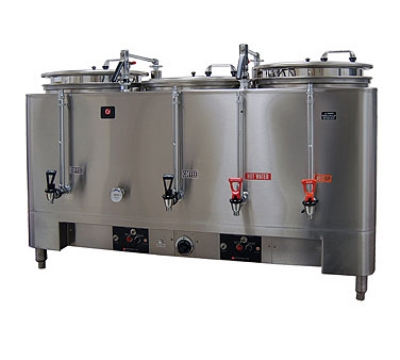 Grindmaster 7306E Automatic Triple 6-gal Coffee Urn w/ Pump Style Brew, Single Wall 120/208/1 V